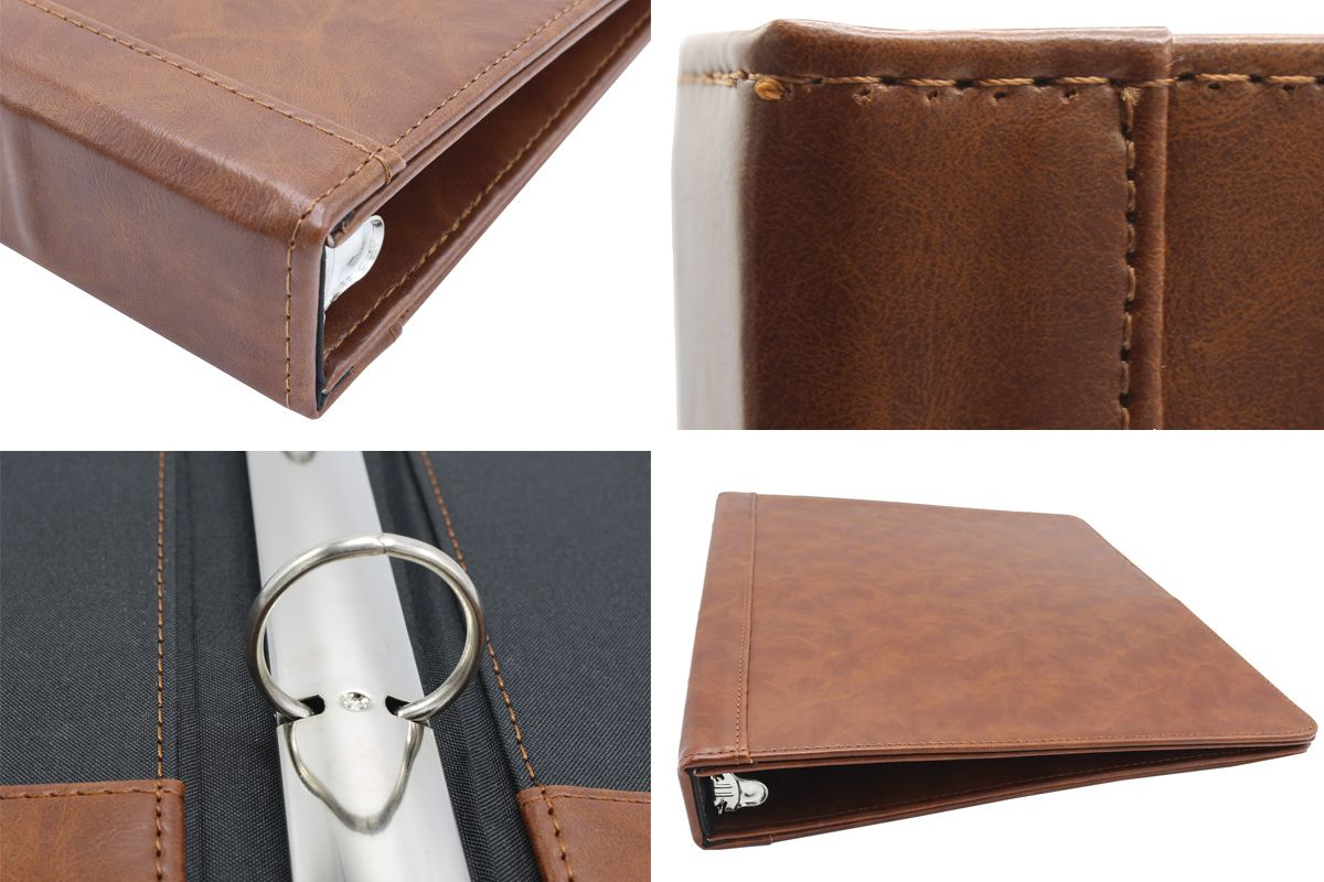 Stitched Faux Leather 3-Ring Binder, 1.75 Spine #importantdocuments