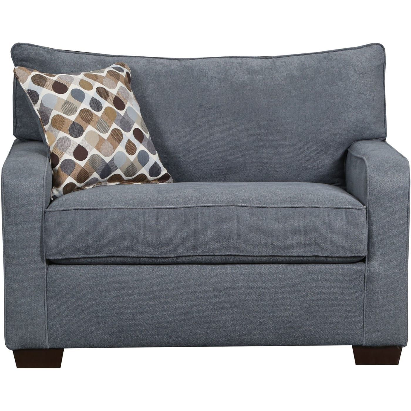 Simmons Upholstery 902501M Mia Denim Chair and a half