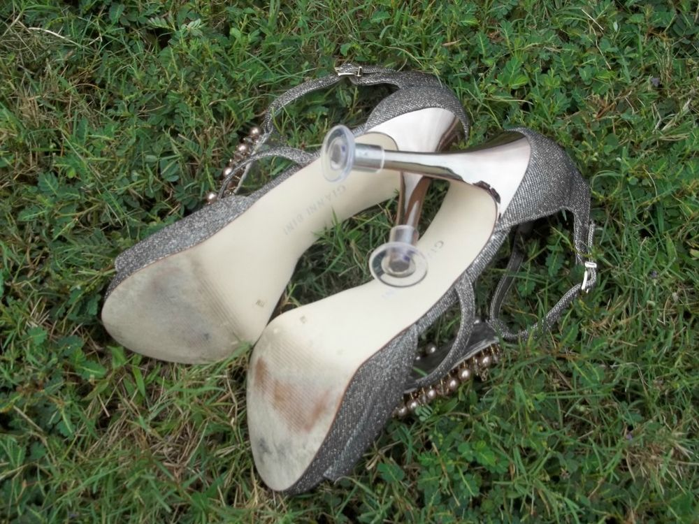 $11 including shipping   HIGH HEEL PROTECTORS ~ Bridal Stiletto Shoes ~ Prevents Sinking in Grass ~ NEW!!