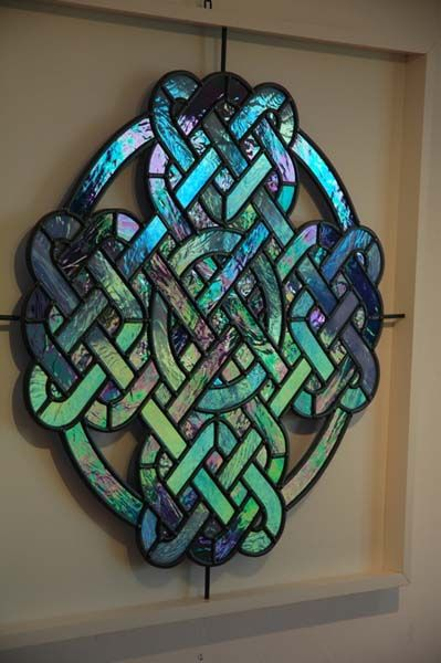 Stained Glass dosent have to go in windows Using modern glasses
