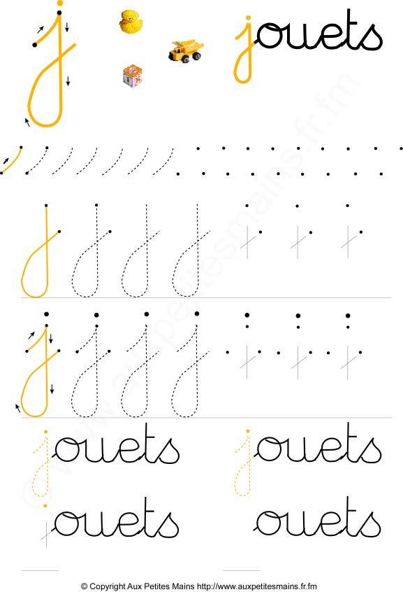 Berühmt Apprendre à écrire les lettres cursives en maternelle | ECOLE  HF59