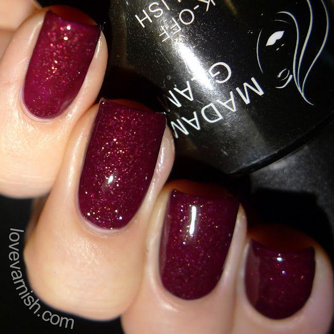 Madam Glam Merlot | LED Gel Polish | Pinterest