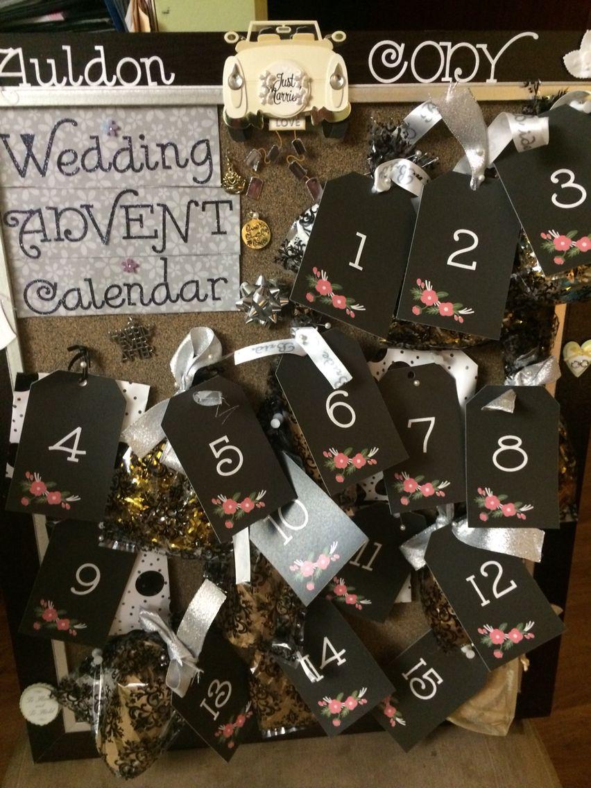 Wedding Advent calendar I made for my