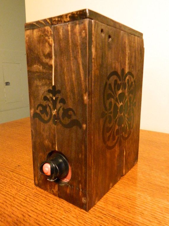 Made from pallets to hide boxed wine!  Fits Bota boxed wine