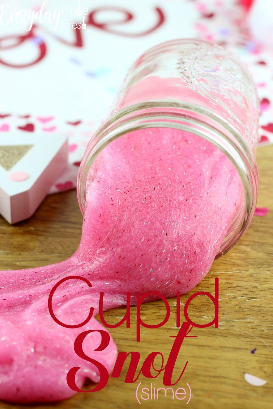 Cupid snot slime slime cupid and diy valentine a simple 3 ingredient slime base is what is used for this cupid snot ccuart Image collections