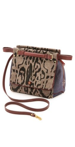 Jerome Dreyfuss Johan Caviar Leopard Haircalf Bag | SHOPBOP
