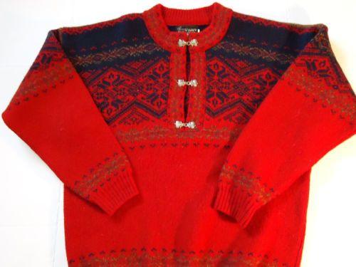 Womens Viking Sweater 100% wool made in Scotland Petwer Clasp L Nordic Ski 0fe004979