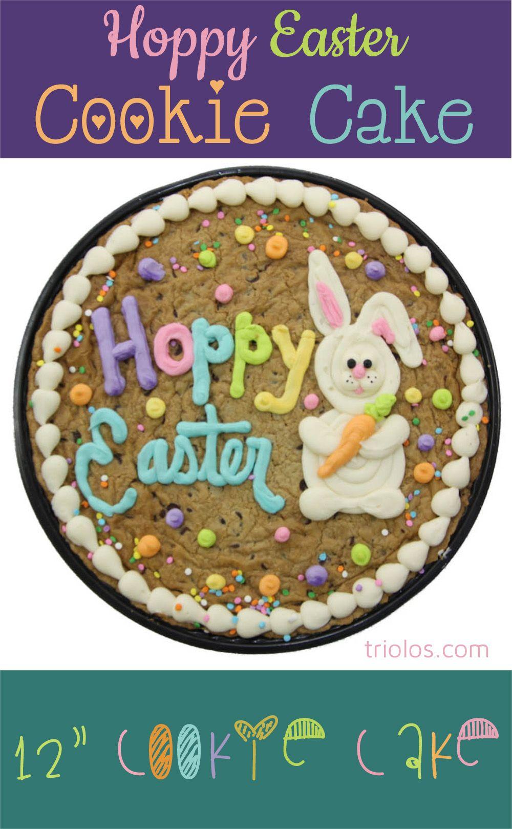 Hoppy Easter Cookie Cake Triolos Com Easter Cookie Cake