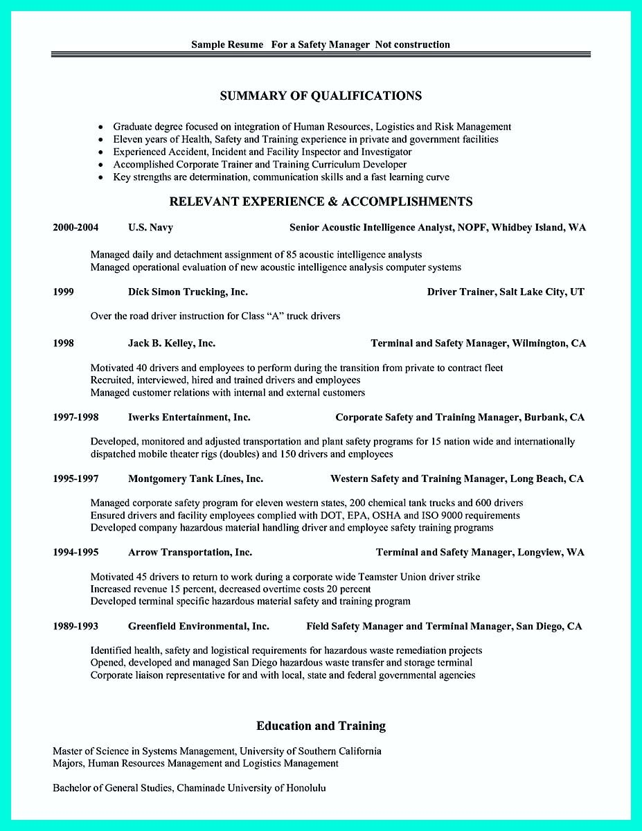 cool Simple Construction Superintendent Resume Example to Get ...