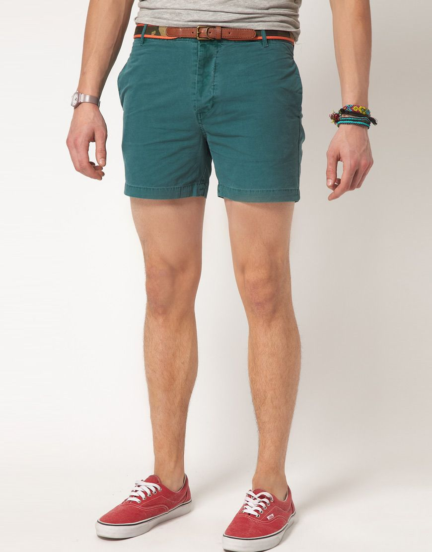ASOS | Short Chino Shorts (model height 6'2'') $39 | Men's Fashion ...