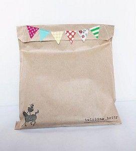 bunting sewn bag topper