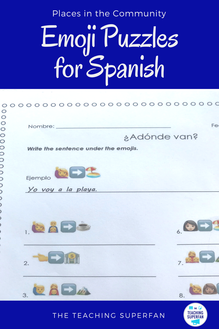 Worksheets For The Spanish Verb Ir And Vocabulary For Locations In The Community Engaging Practice For Beginner Spanish Teaching Resources Word Boxes Spanish [ 1102 x 735 Pixel ]