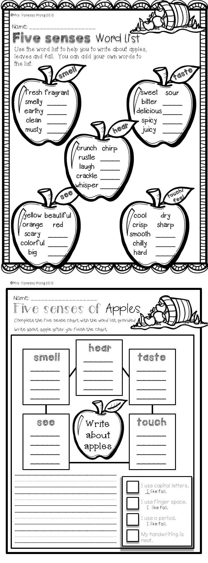medium resolution of Fall Activities for Math and Literacy No Prep Printables First Grade   Fall  math
