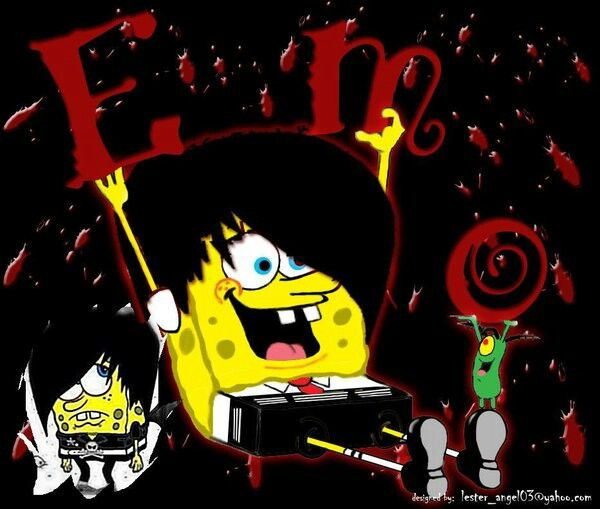 Emo Spongebob Emo Pinterest Emo Spongebob And My Favorite Color