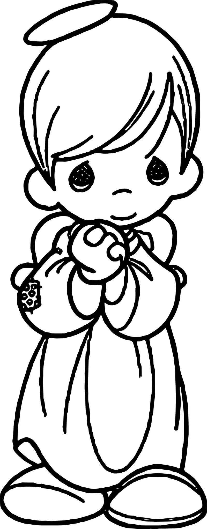 Precious Moments Boy Angel Coloring Page Angel Coloring Pages Precious Moments Coloring Pages Coloring Pages