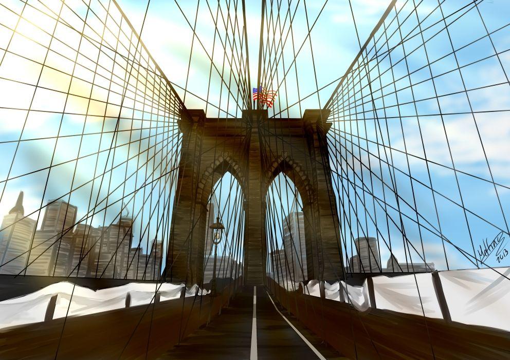 Puente de Brooklyn (Versión más pequeña porque la original pesaba casi 12Mb) (2013) - Como regalo a un amigo -