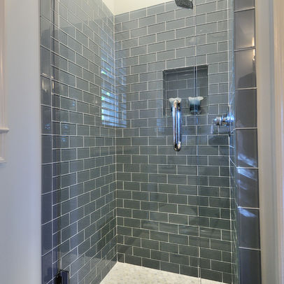 How Do I Transition Between Tile And Drywall In A Tub Surround Small Shower Remodel Shower Remodel Small Bathroom Makeover