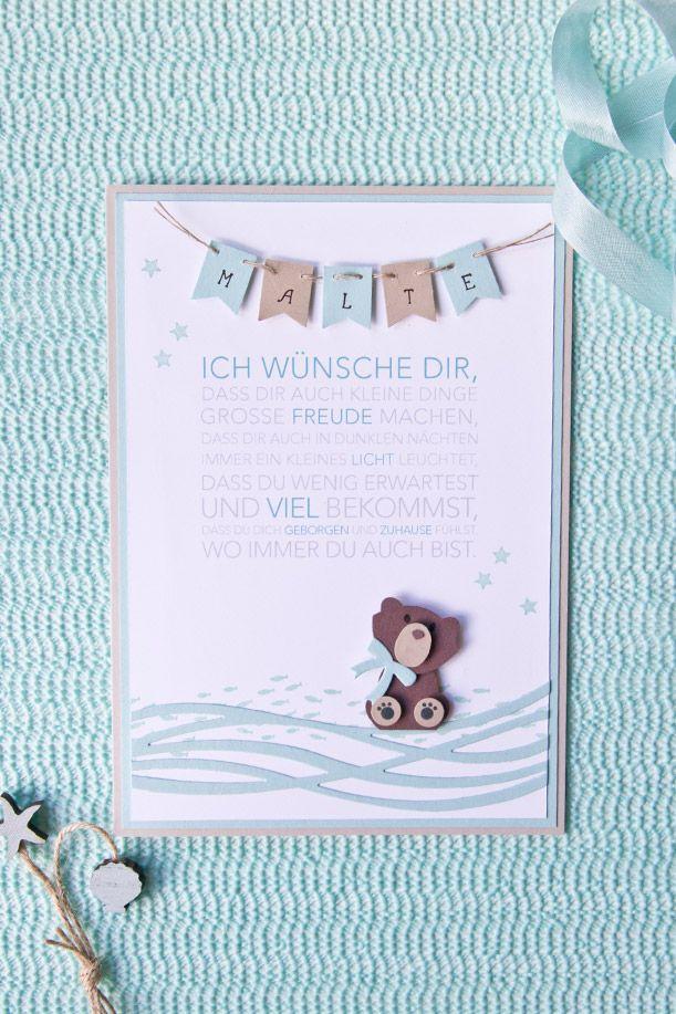 Spruch Zur Taufe Karte.Bärchen Taufkarte Geburt Taufe Zur Taufe Sprüche Zur Taufe