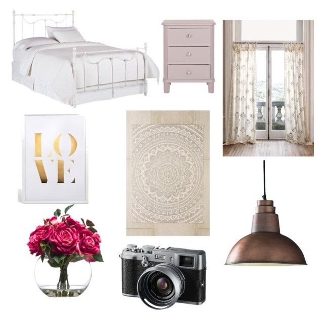 """Bedroom"" by buesra-er on Polyvore featuring interior, interiors, interior design, Zuhause, home decor, interior decorating, Safavieh, Pottery Barn, Dot & Bo und Plum & Bow"