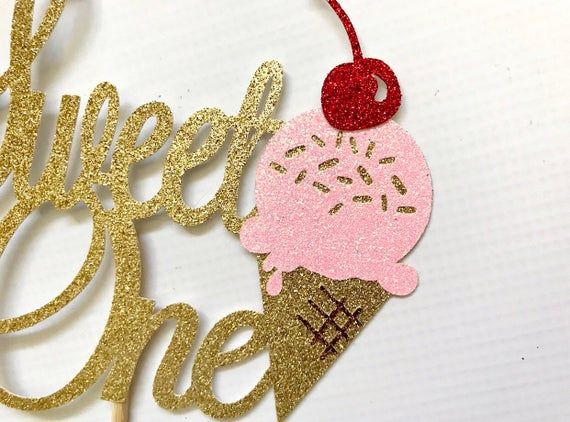 Sweet One Cake Topper| Ice Cream Social| Ice Cream Cake Topper| Ice Cream Birthday Party| Ice Cream #icecreambirthdayparty