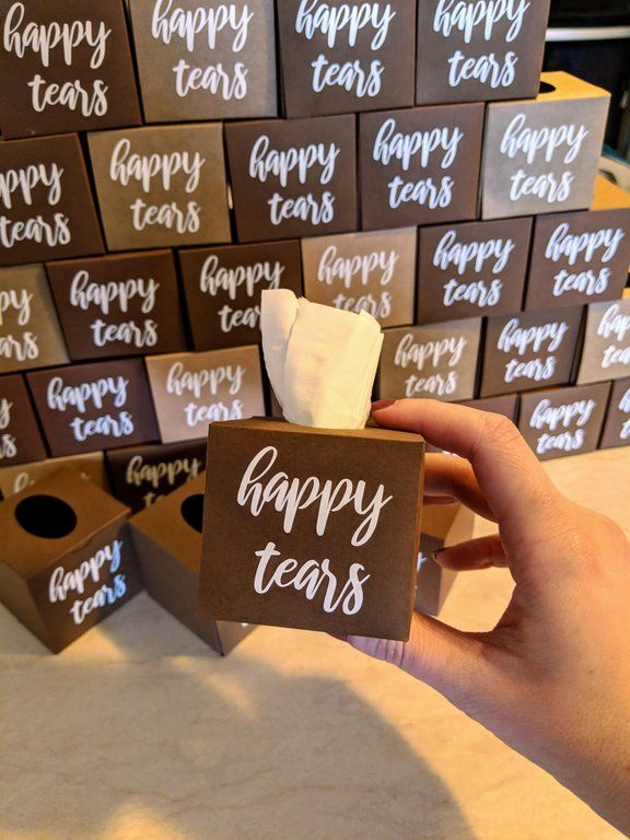 Weekend DIY teeny tiny tissue boxes for our wedding next