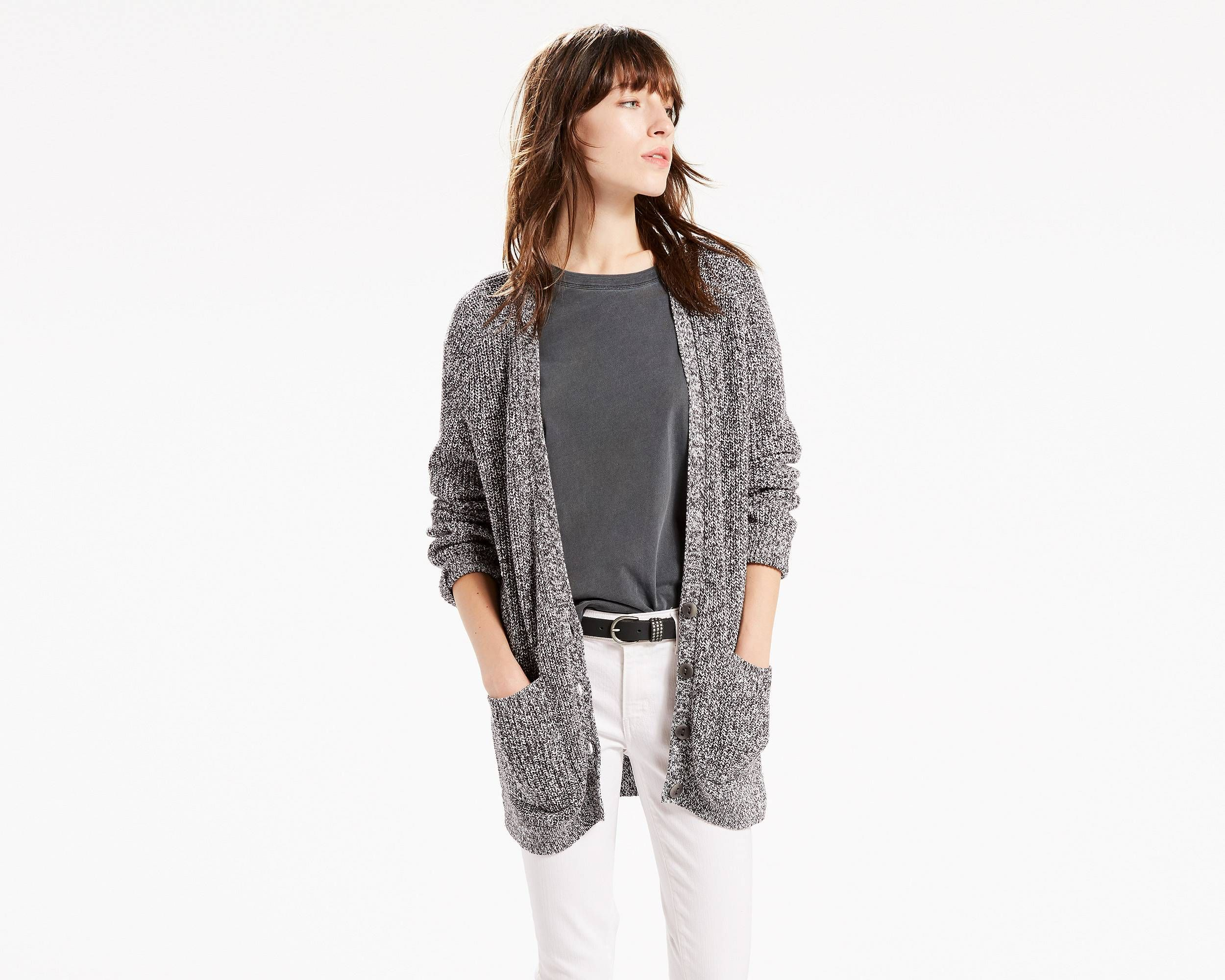 Like a big bear hug. This oversized sweater is knit from super ...