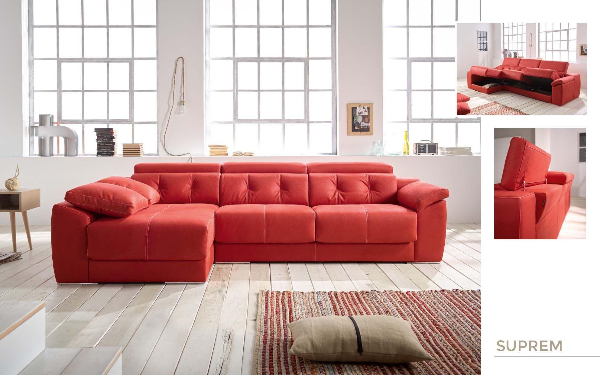 Sof con chaise longue suprem de la marca acomodel en for Marcas de sofas buenos