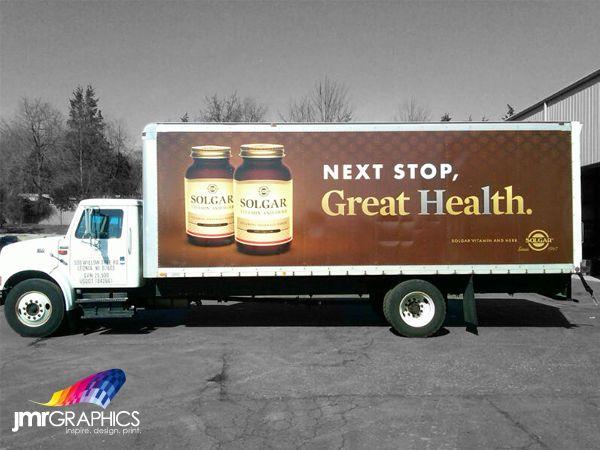 JMR installs digital graphics on the side of a Soglar truck