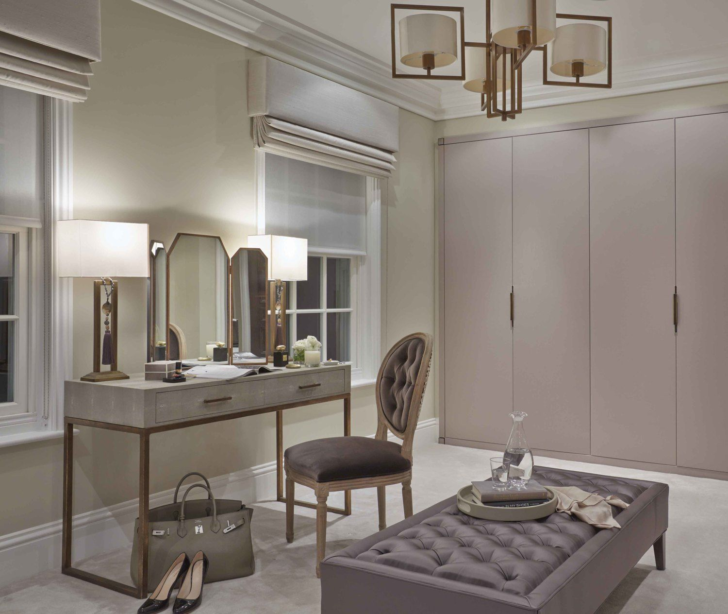 Lovely dressing area sophie patterson design closet for Bathroom designs with dressing area
