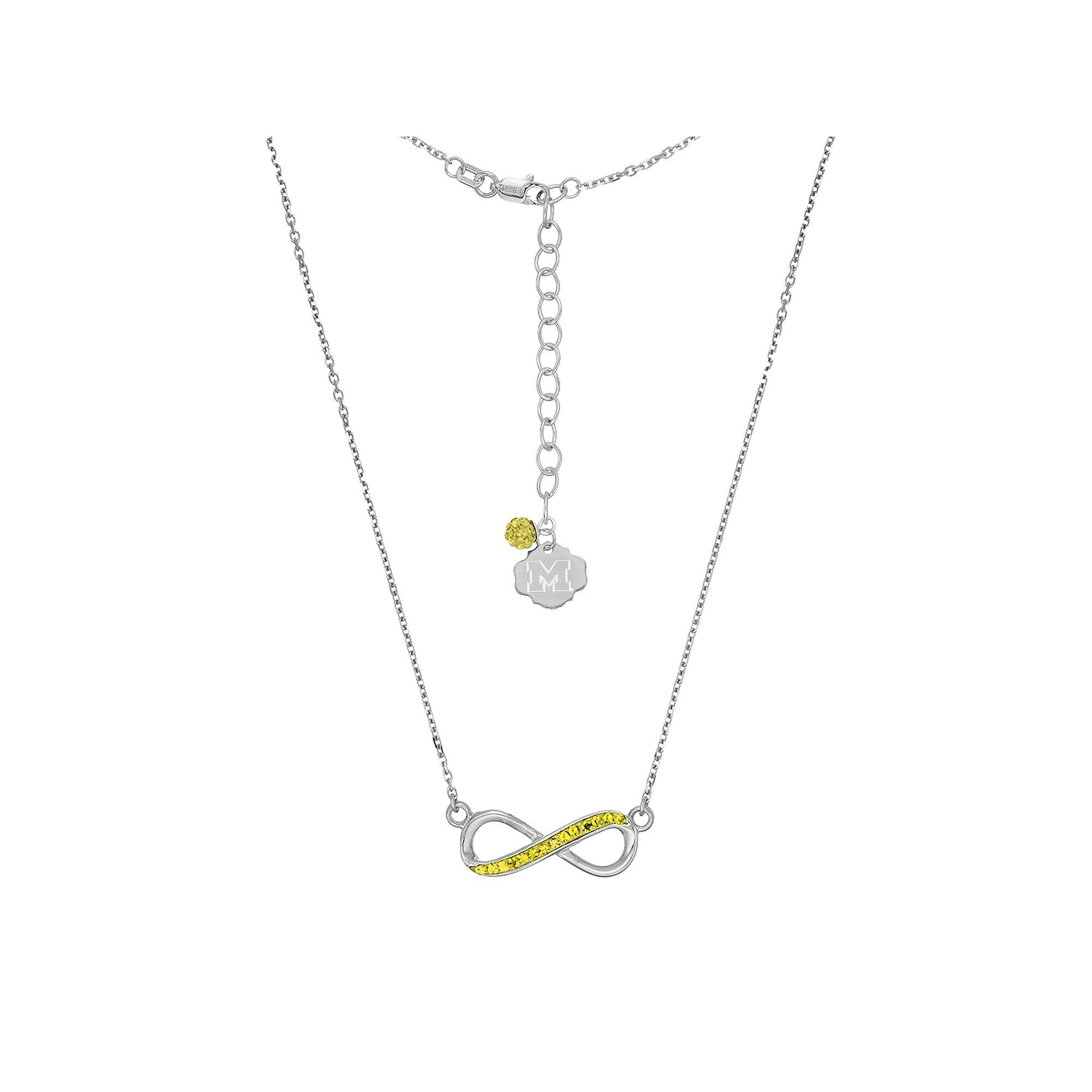 infinity chain gold cable over original rose petite rhodium necklace cz inch with product sterling silver