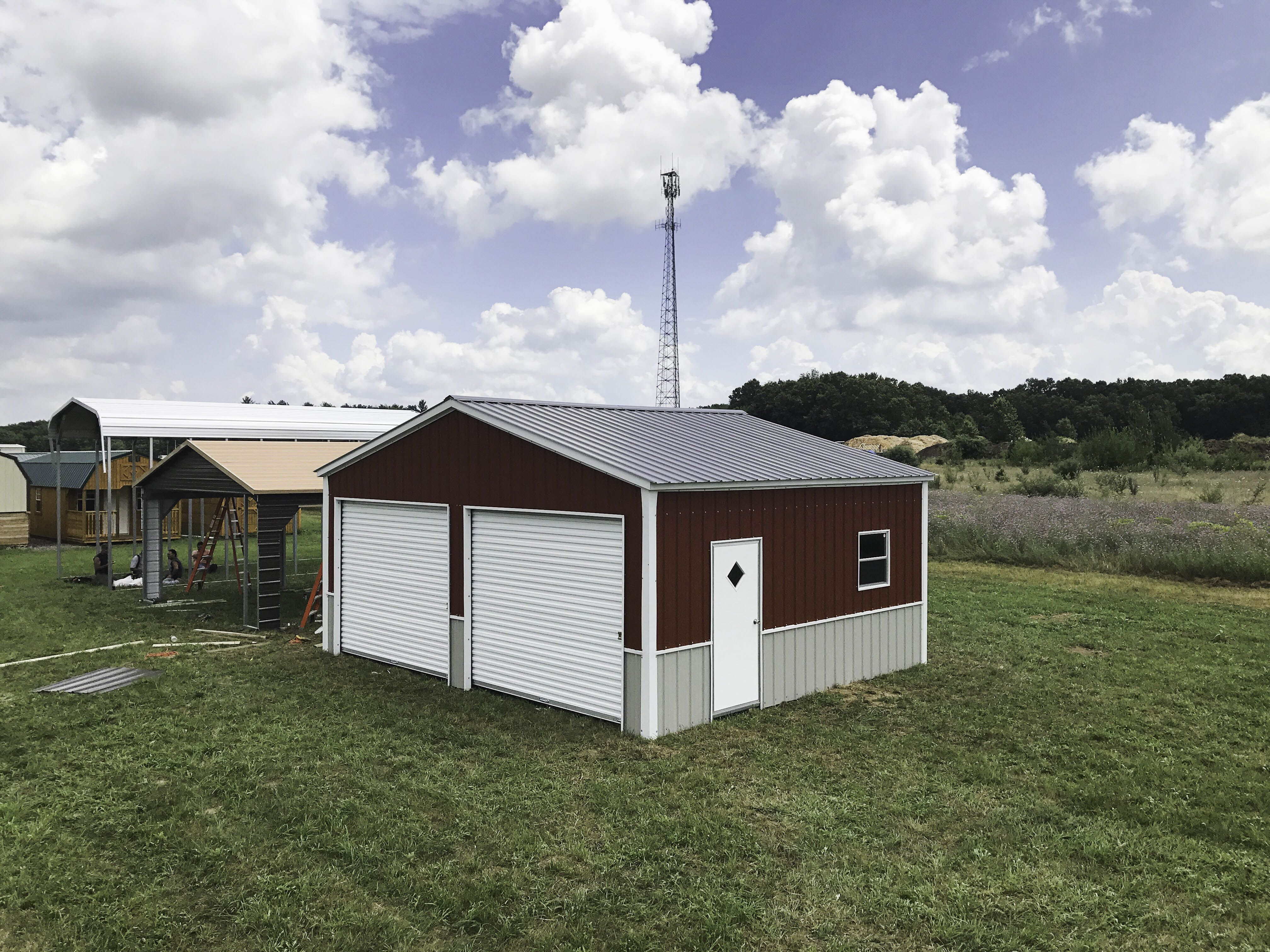 24x21x9 Garage All Vertical 2 10x8 1 Service 1 Window Midwest Steel Carports Steel Carports Metal Buildings Carport
