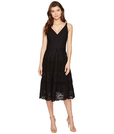 Adelyn Rae Laureen Woven Lace Midi Fit And Flare Wedding Guest