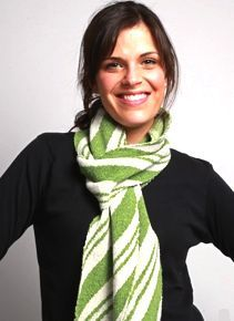 Candy Cane Scarf Peppermint Striped Scarf - Recycled Cotton