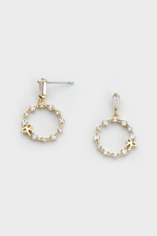 Bespoke CZ Earrings in Gold