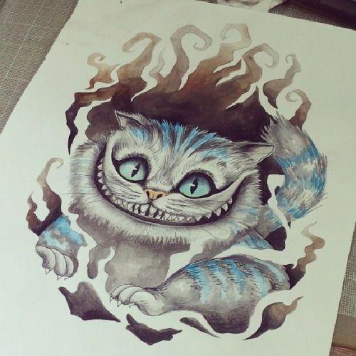 Alice Perrin Google Search: Cheshire Cat Watercolor - Google Search