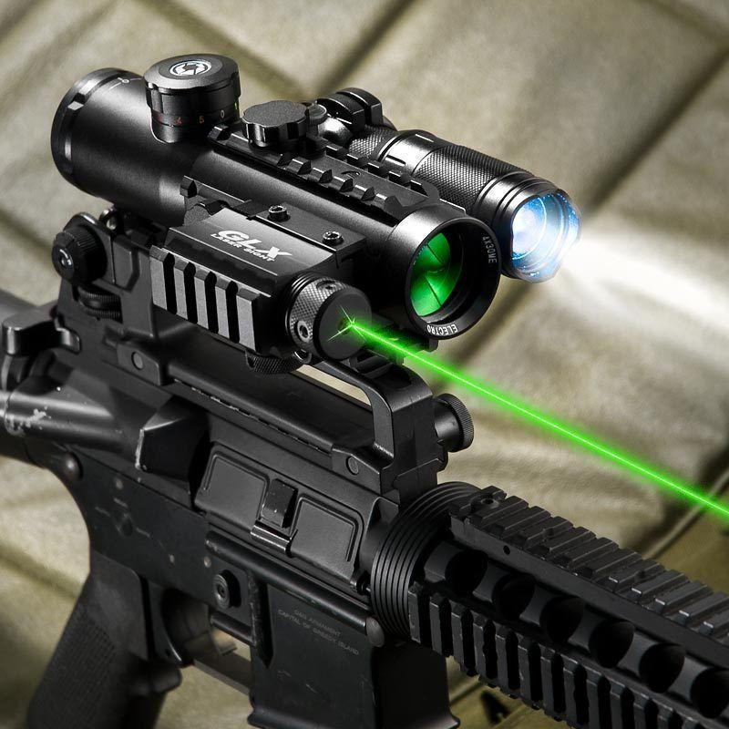 Barska 4x30 Ir Electro Sight With Green Laser And 140 Lum