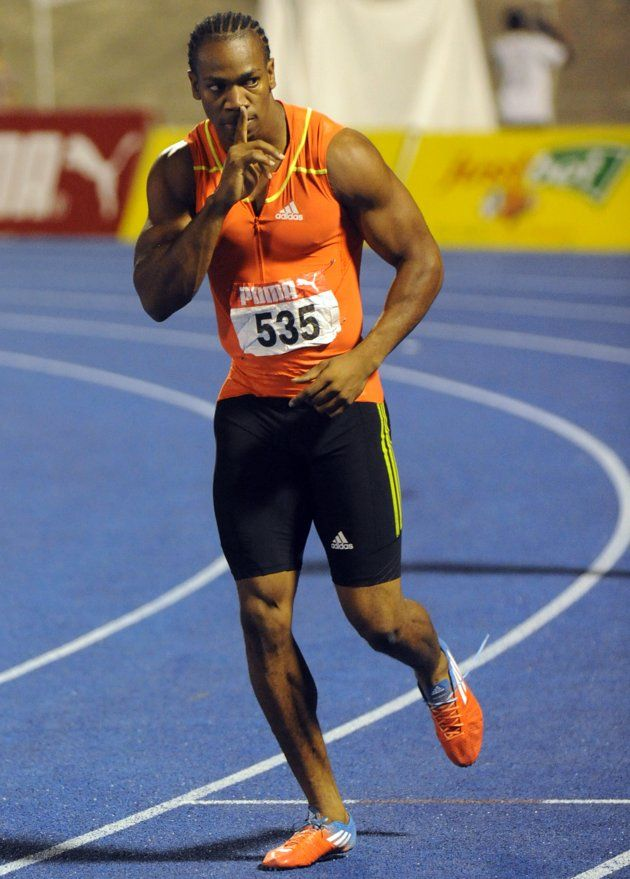 The week's best Olympic photos - Sprinter Yohan Blake gestures to the crowd after winning the ...
