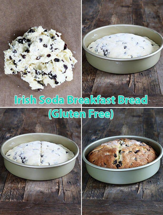Irish Soda Breakfast Bread (Gluten Free) - http://joanrecipes.com/irish-soda-breakfast-bread-gluten-free.html