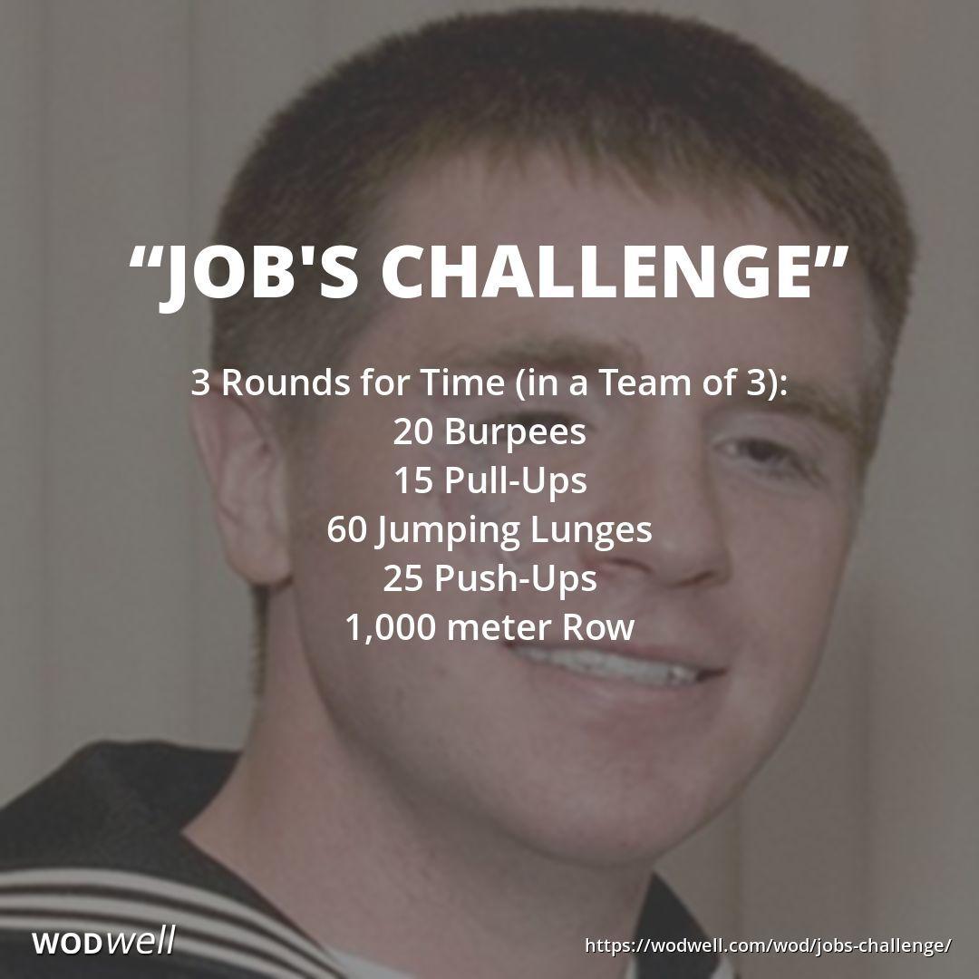 """""""Job's Challenge"""" WOD Wod workout, Tough mudder training"""