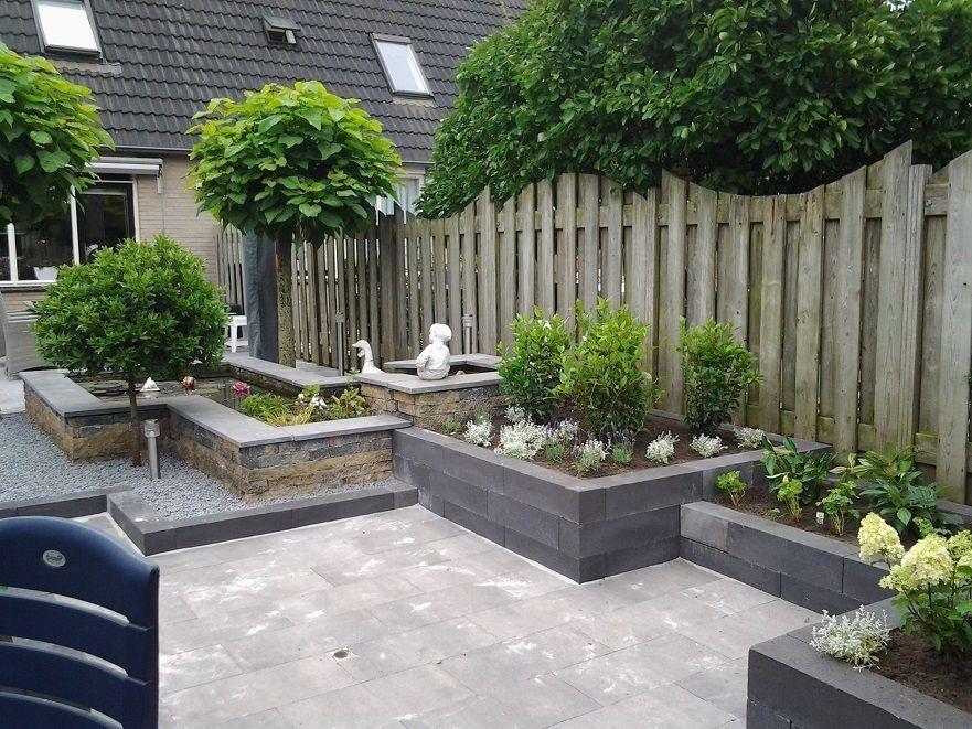 Achtertuin met verhoogde borders andre meilink tuin voorbeelden pinterest terrasses - Petit espace ontwerp ...