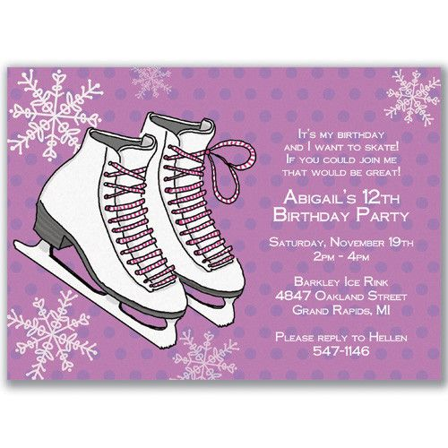 Download FREE Template Ice Skating Birthday Party Invitations