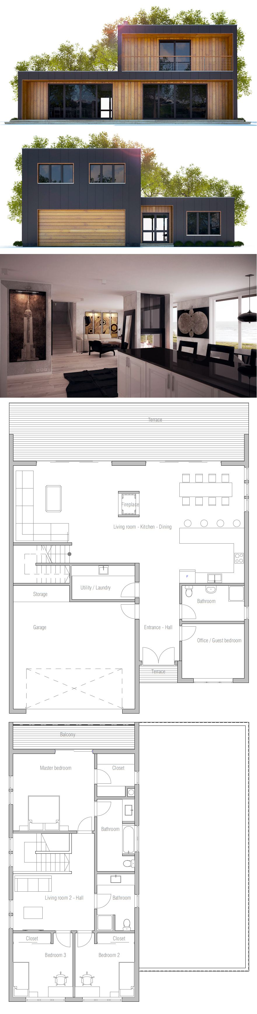 House Plan distribucin Planos Pinterest Modern house