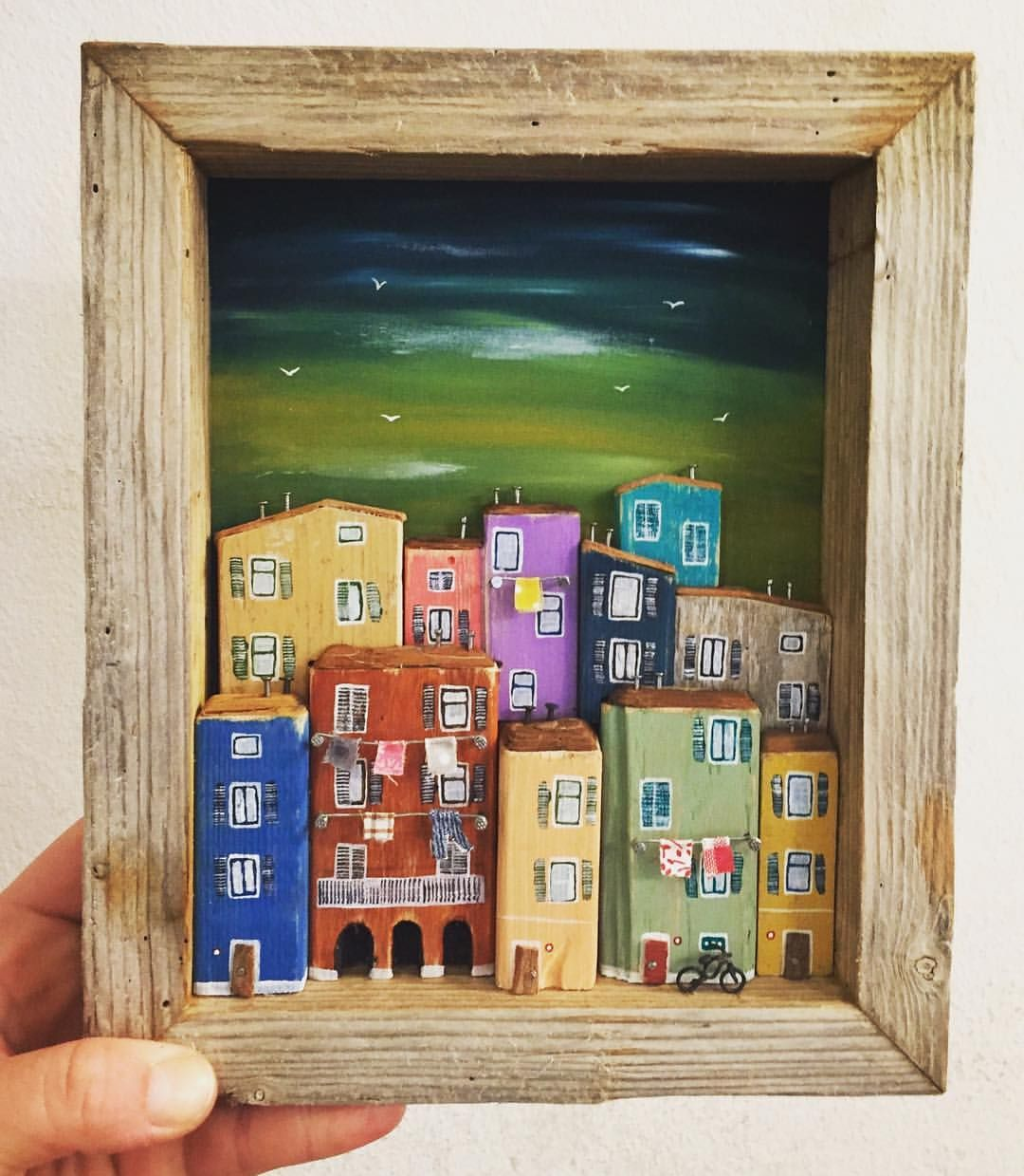 Another little town ️ nikastinyhouse driftwood handmade