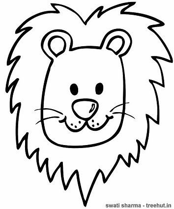 Lion Head Coloring Page : coloring, Coloring, Pages,, Head,