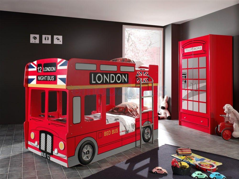 London Double Bus Lit Superposé Rouge Bus London Lit 2 Personnes