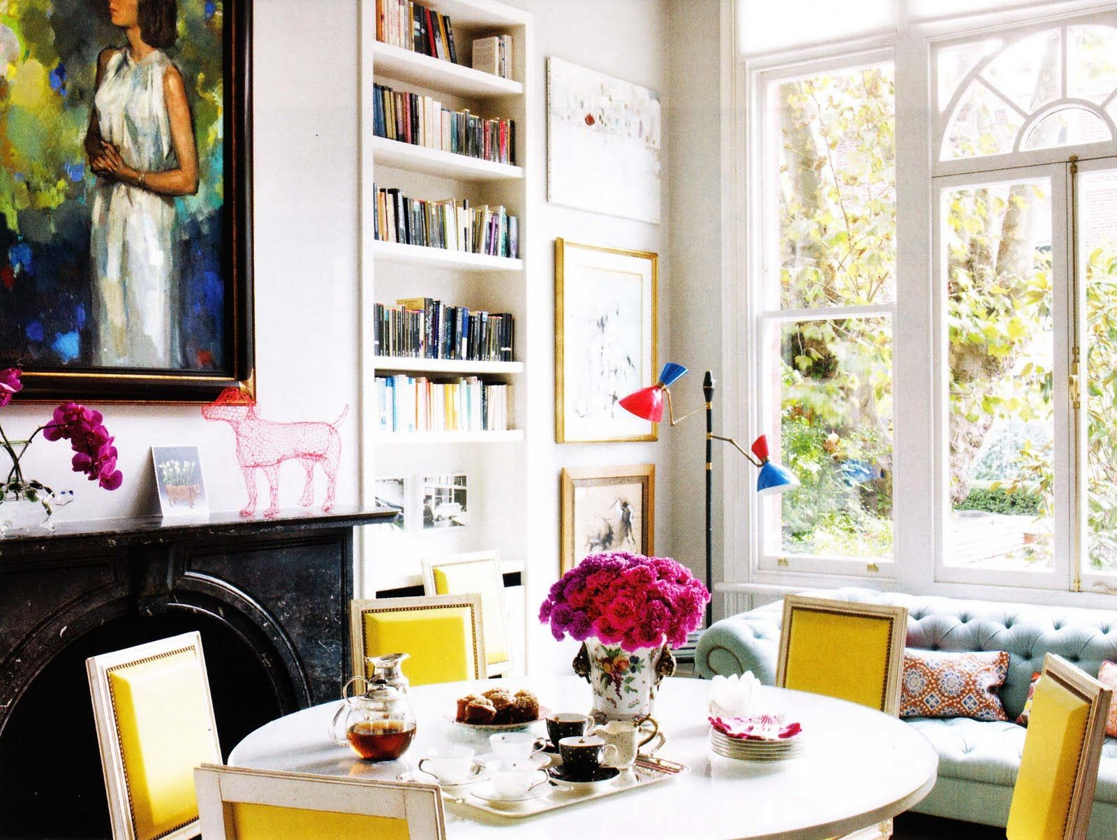images from elle decor | inspiring image of some yellow dining ...