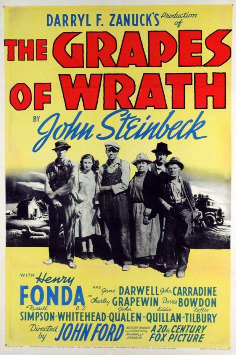 Las Uvas De La Ira The Grapes Of Wrath De John Ford 1940 Carteleras De Cine Afiche De Cine Películas Vintage