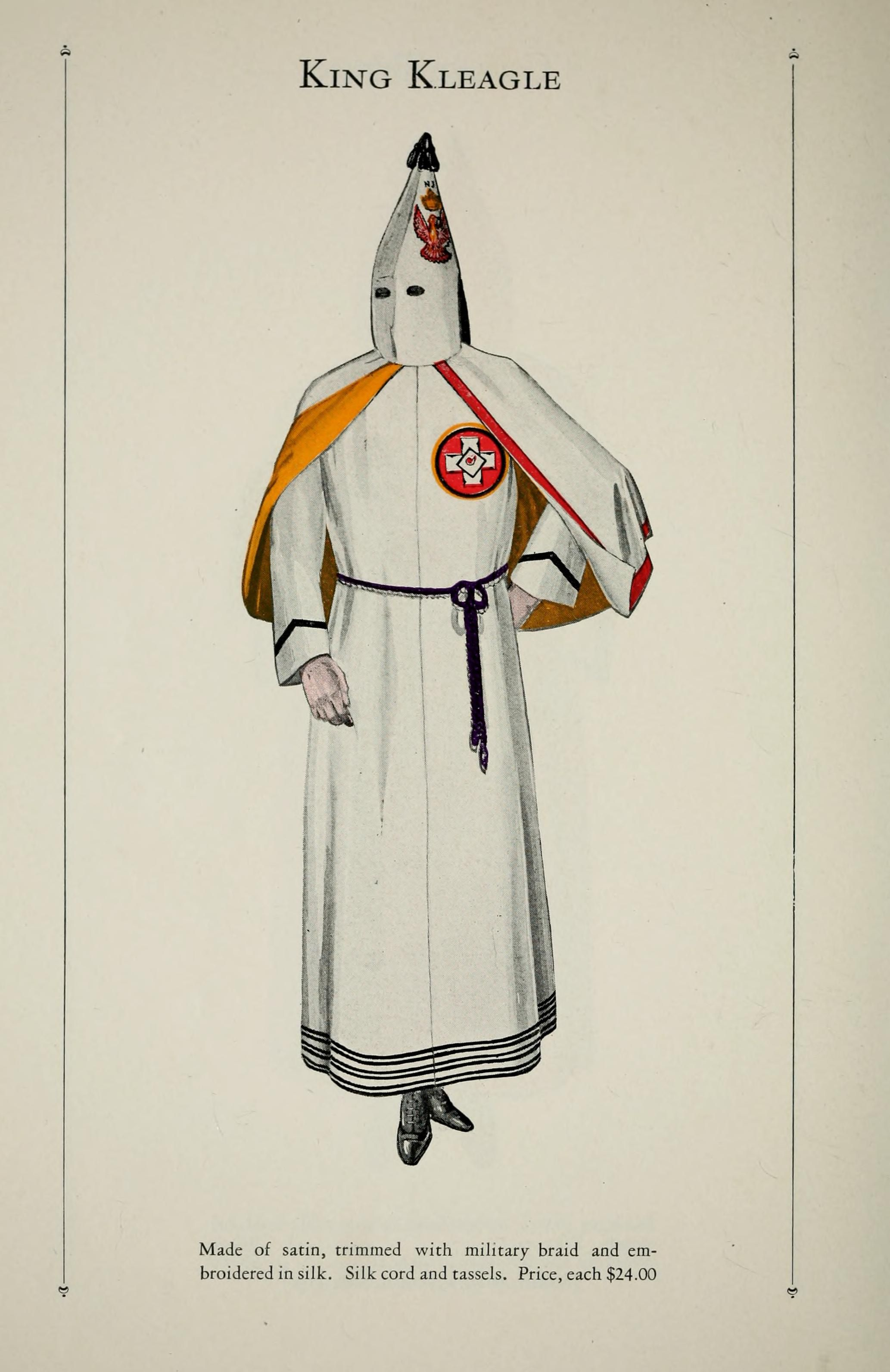 catalogue of offical robes and banners by the ku klux klan catalogue of offical robes and banners by the ku klux klan retronaut