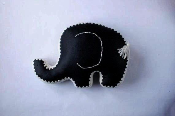 (Accent pillow: Navy Blue Faux Leather and White Croc Elephant Decorative Pillow (Accent pillow