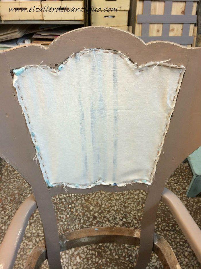 Como tapizar un respaldo de silla paso a paso como se - Tapizar sillon paso a paso ...